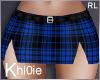 K blue tartan skirt RL