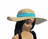 (2F)teal beach hat