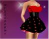 bl/red star dress