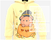 !J Yellow Bear Hoodie M