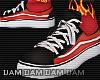 c Black x orange shoes