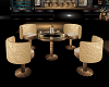 Golden Table Chair Set