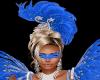Mardi Gras Blue Mask