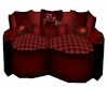 (DR) Red Love Sofa 6ps.