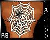 PB Spider Web Tattoo