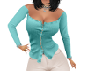CLARE CLASSY TEAL TOP
