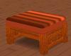 Burnt Orange Ottoman