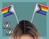 Pride Head Flags- F