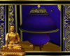 Thai Lamp Blue & Gold