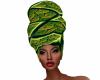 Green Kente Badu Wrap