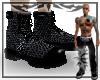 {E} Black Snake Boots