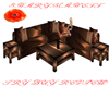 Pure Caramel Chat Sofa