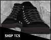 Black grey sneakers
