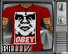Obey Vneck Tee