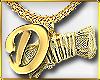 C| Inital D Gold F Chain