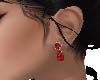 Red Womans Ruby Earrings