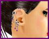 Purple Earring Chain