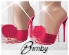 Fur Ball Heels Pink