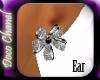 Silver Petals Earings