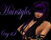 hair black and purple