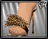 !A! Bronze Marabou Heels