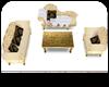 # Gold sofa