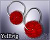 [Y] Wanda red earring