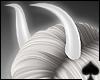 Cat~ White Devil Horns