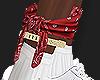 Red Bandana + Anklet