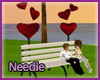 Amore Heart Bench