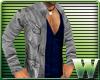 *WW* GQ Jacket Gray/Blue