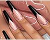 f. black tips nails