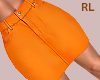 S. Orange Skirt RL
