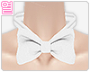 [Y] White bow neck tie