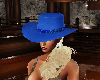 blue lady cowgirl hat