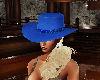 blue lady cowgirl hat
