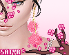 Pink Fluffy Earrings