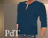 PdT Teal Sweater HenleyM