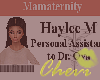 Haylee Custom Badge