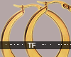 $ Bad Girl Gold Hoops