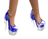 blue and silver shoes