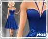 !50s Party Dress Blue
