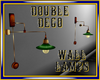 Double Deco Wall Lamps