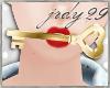 <J> Gold Heart Key
