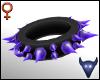 Spiky purple collar (f)