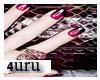 4U. Blk pink Nails