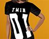 Twin 01 Shirt Black (F)