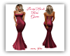 Laced Back Red Gown