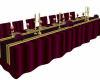 Burgundy Table