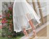 C- High Low Skirt WHITE